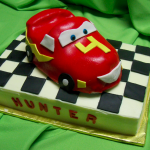 Red Race Car Birthday Cake - Haute Cakes Austin